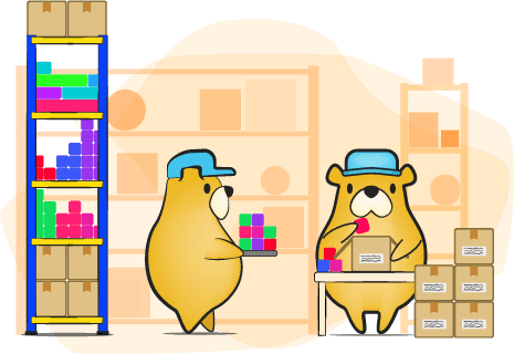Pick and Pack Storage of ecommerce fulfillment,flybear